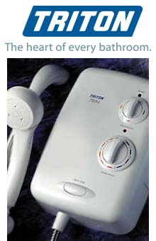 Photograph of a TRITON T80 shower